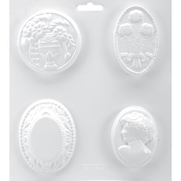 "Soapsations Soap Mold 8""X9""-4 Cavity - Cameo Collection"