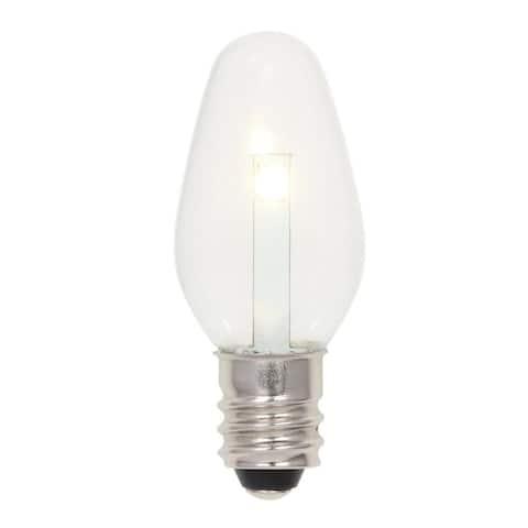 Westinghouse 5511000 Pack of (2) 0.5 Watt C7 Candelabra (E12) LED - Clear
