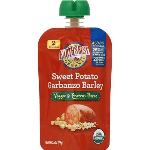 Earth's Best - Organic Veggie & Protein Sweet Potato Barley Puree ( 12 - 3.5 OZ)