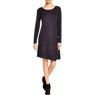 Eileen Fisher Womens Sweaterdress Merino Wool Asymmetric
