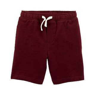 Carter's Little Boys' Easy Pull-On Knit Shorts, Maroon