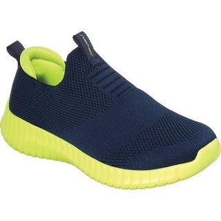 Skechers Boys' Elite Flex Wasick Slip-On Sneaker Navy/Lime