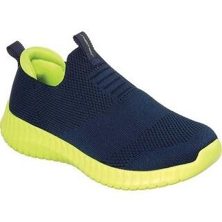 Skechers Boys' Elite Flex Wasick Slip-On Sneaker Navy/Lime