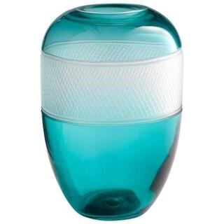 Cyan Design Medium Calypso Vase II Calypso 11 Inch Tall Glass Vase - Blue