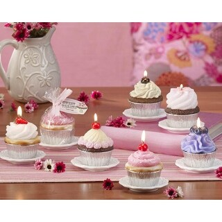 Club Pack of 12 White Sweet Treats Ceramic Cupcake Candle Display Plates