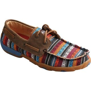 Twisted X Boots Women's WDM0076 Driving Moc Loafer Serape/Bomber Leather/Canvas