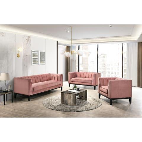 Picket House Furnishings Calabasas 3PC Living Room Set in Rose