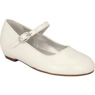 Nina Girls' Lil Seeley Mary Jane White Patent