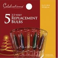 Celebrations 1265-1-71 Mini Replacement Bulbs, 3.5 V,  Multi-Color
