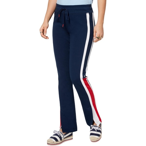 bc98e1620dfa8 Shop Tommy Hilfiger Womens Sweatpants Striped Drawstring - L - Free  Shipping On Orders Over $45 - Overstock - 26395162