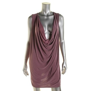 Free People Womens Pillow Talk Modal Blend Drapey Clubwear Dress