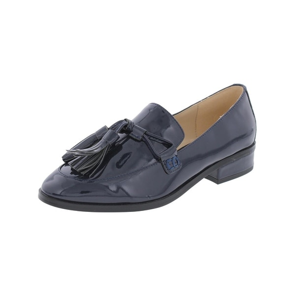 IMNYC Isaac Mizrahi Womens Bianca Loafers Patent Leather Tassel