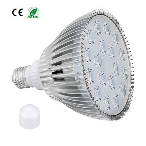 LED Grow Light Bulb 18W E27 12 Red + 6 Blue LEDs AC 85-265V for Indoor Plants