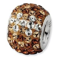 Sterling Silver Reflections Brown Graduated Crystal Bead