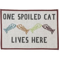 """One Spoiled Cat - Petrageous Designs Tapestry Placemat 19""""X13"""""""