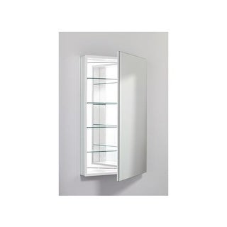 """Robern PLM2440W 23"""" Mirrored Bathroom Cabinet with Plain Front from the PL Serie"""