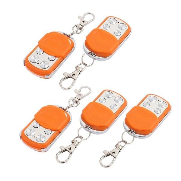 5pcs 100M 4 Key Waterproof Car Anti-theft Alarm Digital Remote Controller Orange