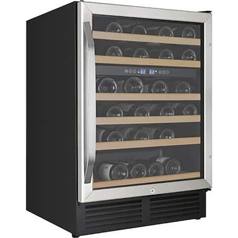 Avanti WCR496DS 24 inch Wide Built-In Dual Zone Wine Chiller - Stainless Steel