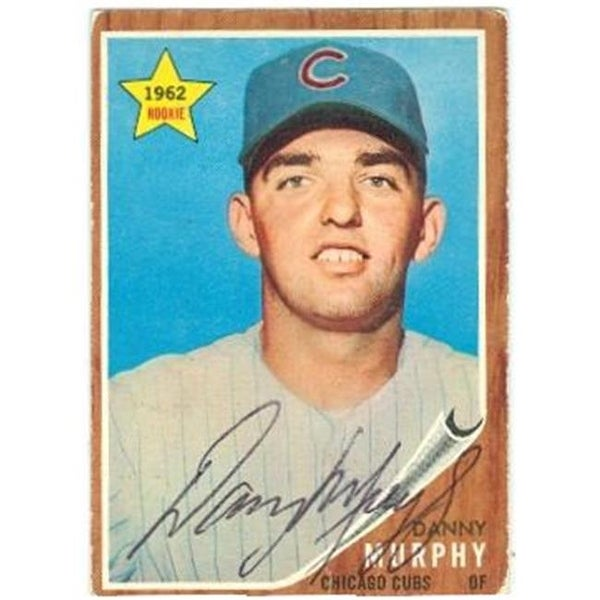 Shop Chicago Cubs 1962 Topps No 119 Rookie Danny Murphy Ed Baseball Card