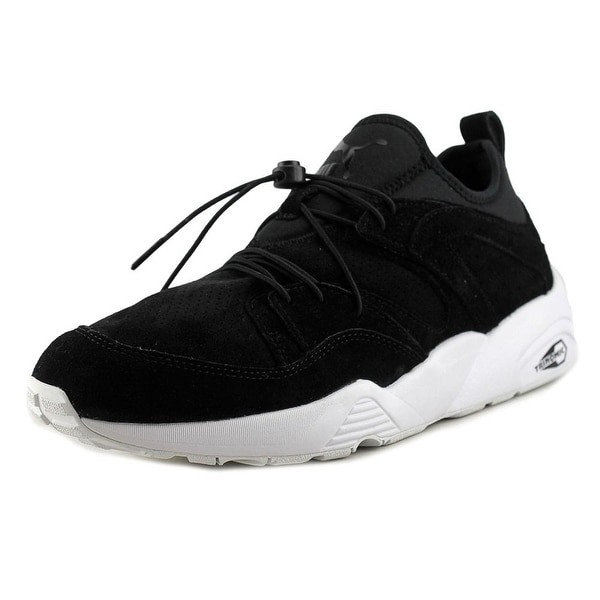 Puma Blaze Of Glory Soft Men Round Toe Suede Black Running Shoe