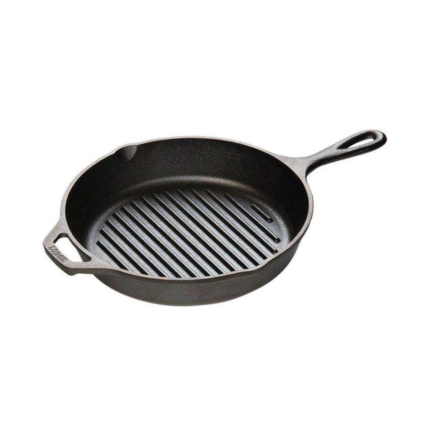 Lodge Cast Iron Frying Pan Round 30 cm 2 Griffe