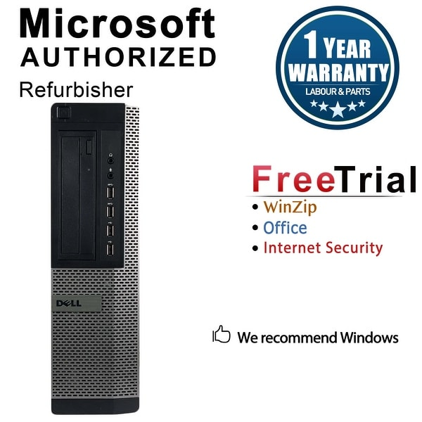 Dell OptiPlex 7010 Desktop Computer Intel Core I3 3220 3.3G 16GB DDR3 2TB Windows 7 Pro 1 Year Warranty (Refurbished) - Black