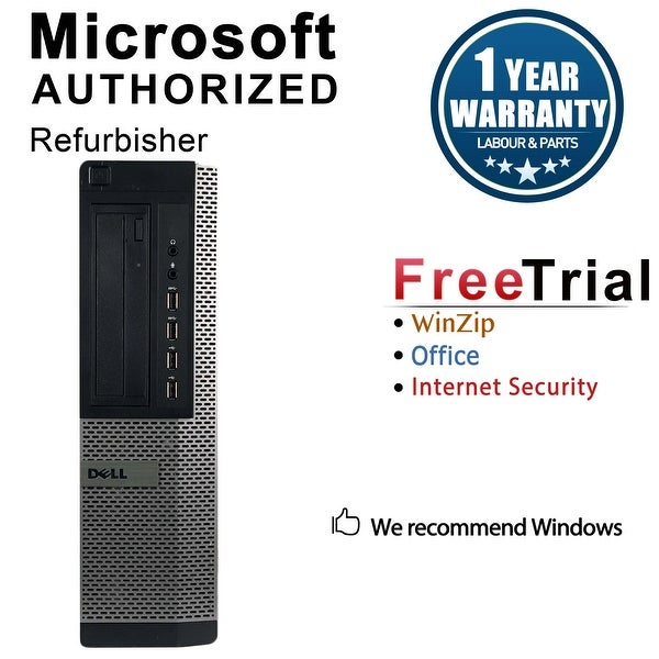 Dell OptiPlex 7010 Desktop Computer Intel Core I5 3450 3.1G 8GB DDR3 2TB Windows 7 Pro 1 Year Warranty (Refurbished) - Black
