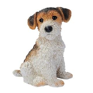 Design Toscano Fox Terrier Puppy Dog Statue