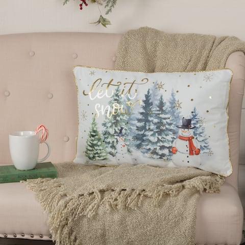 Let It Snow Pillow 14x22