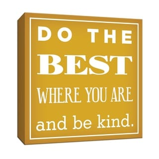 """PTM Images 9-152363  PTM Canvas Collection 12"""" x 12"""" - """"Do the Best"""" Giclee Sayings & Quotes Art Print on Canvas"""