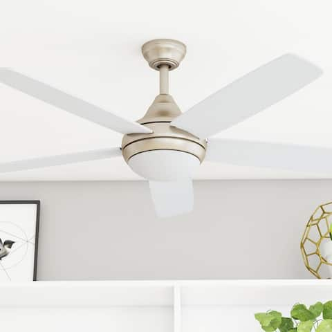 """52"""" Prominence Home Ashby Indoor Glam Ceiling Fan with Remote, Champagne"""