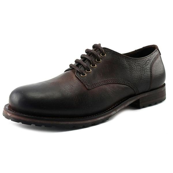 Aldo Hy Men Round Toe Leather Brown Oxford