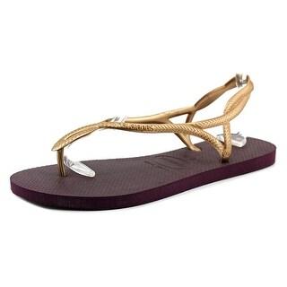 Havaianas Luna Women Open-Toe Synthetic Purple Slingback Sandal