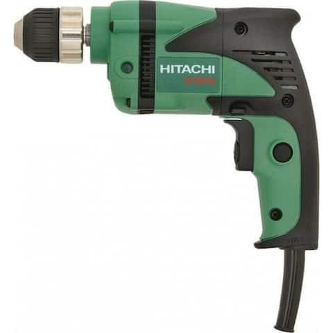 "Hitachi D10VH2 Lightweight Electric Drill, 3/8"", 2500 Rpm"