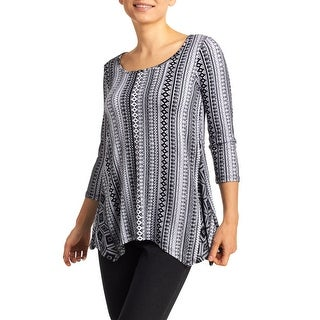 Cupio Women's Elbow Sleeve Sharkbite Tunic