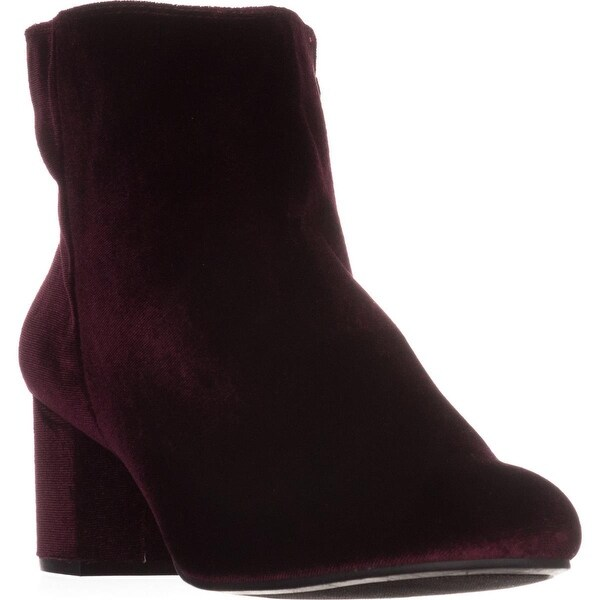 Rebel by ZIGI Nanon Block-Heel Ankle Boots, Wine