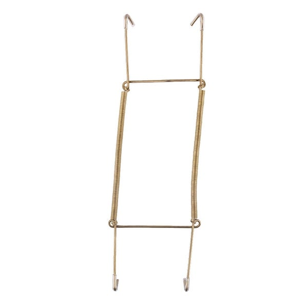 Metal 8.7 to 11 Inch Spring Plate Hangers Wall Holder Hook Display - Gold Tone. Opens flyout.