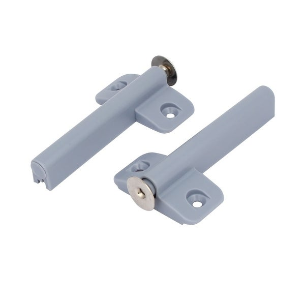 Cabinet Cupboard Door Rebound Device Push Press Open Touch Latch Catch Gray  2pcs