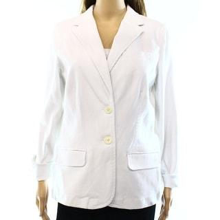 Lauren Ralph Lauren NEW White Women's Size 8 Notch Collar Blazer