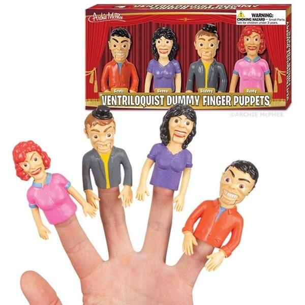 Ventriloquist Dummy Finger Puppets - multi