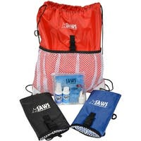 JAWS QuickPACK Drawstring Organizing Backpack with SwimPack Aquatic Care Kit - One size