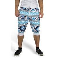 Aztec Print Jogger Crop Pants