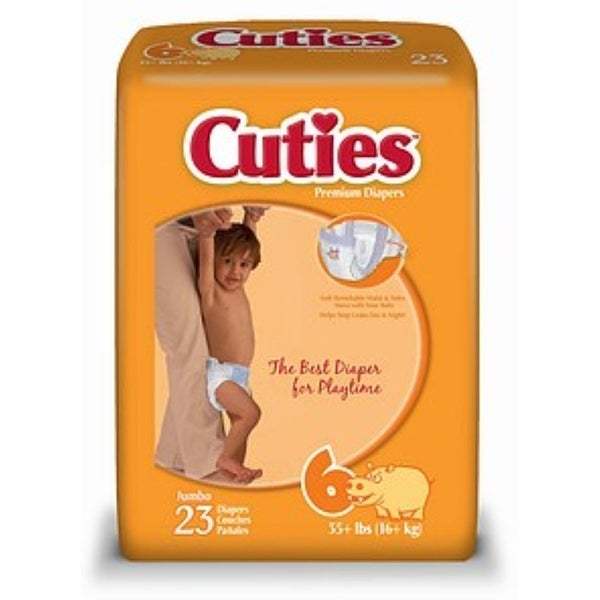 Cuties Premium Diapers Size 6 23 Each [4 packs per case]