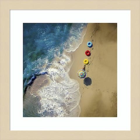 hi summer (Beach) by Ambra Framed Wall Art Print