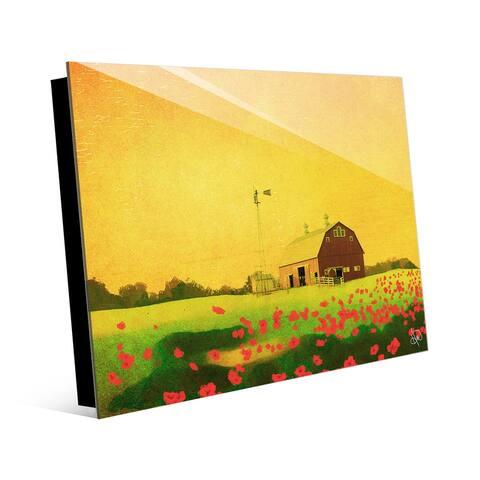 Kathy Ireland Forgotten Farm In The Summer Poppy Field on Acrylic Wall Art Print