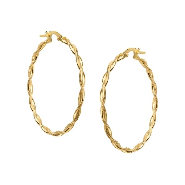 e64c750a4f235 Eternity Gold Large Twisted Hoop Earrings in 14K Gold - YELLOW