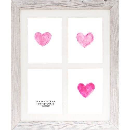 Shop Ptm Images 128780 4 Opening 24 X 20 Collage Frame White