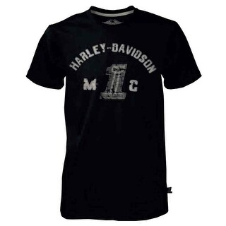 Harley-Davidson Men's Black Label Collegiate Short Sleeve T-Shirt Black 30291523