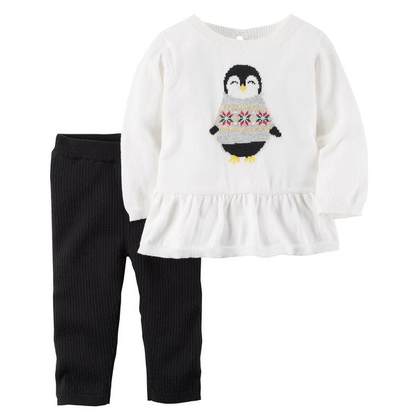 4643f5635 Shop Carter's Baby Girls' 2-Piece Penguin Peplum Top & Cotton Pant Set, 3  Months - 3 Months - Free Shipping On Orders Over $45 - Overstock - 20652787
