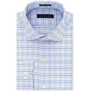 """Link to Tommy Hilfiger Mens Non Iron Button Up Dress Shirt, blue, 14.5"""" Neck 32""""-33"""" Sleeve Similar Items in Shirts"""